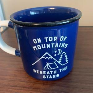 Indigo Mountain and Stars Coffee Mug
